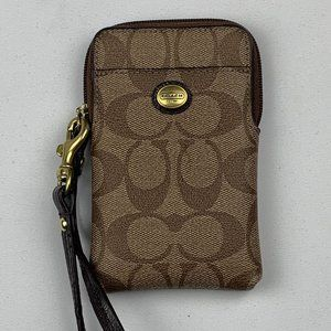 Coach Clutch Wallet Brown Wome's